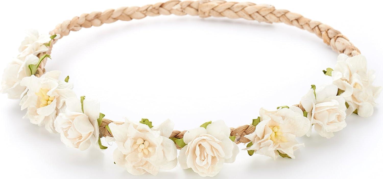 Amazon White Flower Crown Headband For Wedding Festivals Wreath