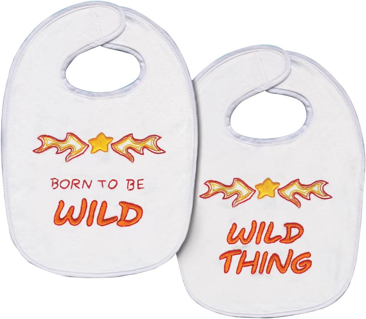 Tobin Born to be Wild Bib Pair Stamped Cross Stitch Kit 7-1//2 by 11-Inch Set of 2