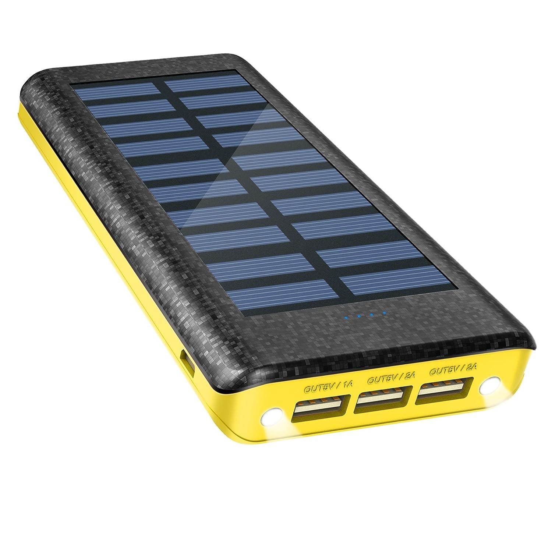 Batería Externa Power Bank 24000mAh , Cargador Solar de OLEBR...