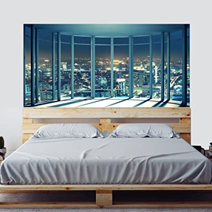 Amazon Com 3d Headboard Decal Decor Self Adhesive Wall Mural