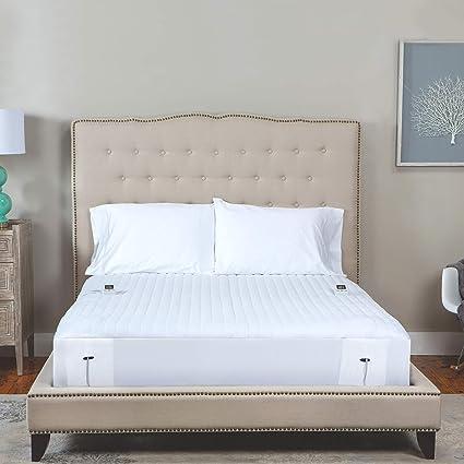 Amazon Com Sensorpedic Heated Electric Mattress Pad Cal King White