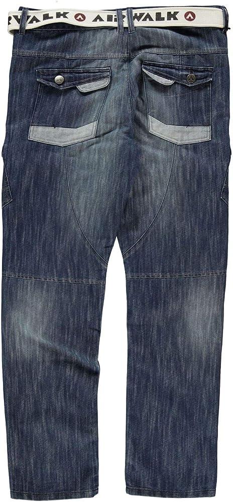 Amazon.com: Airwalk para hombre Belted Cargo jeans ajuste ...
