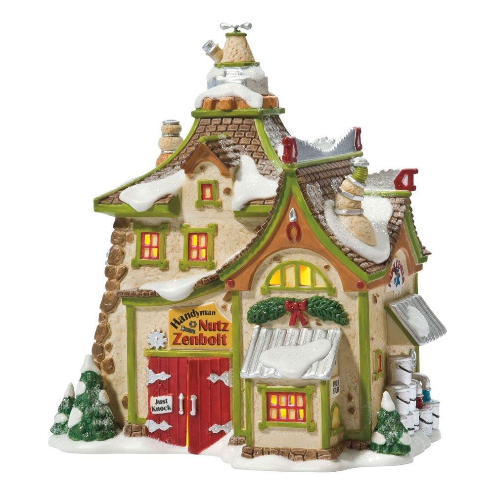 Department 56 North Pole Village Zenbolt's Handyman Shop Lit House
