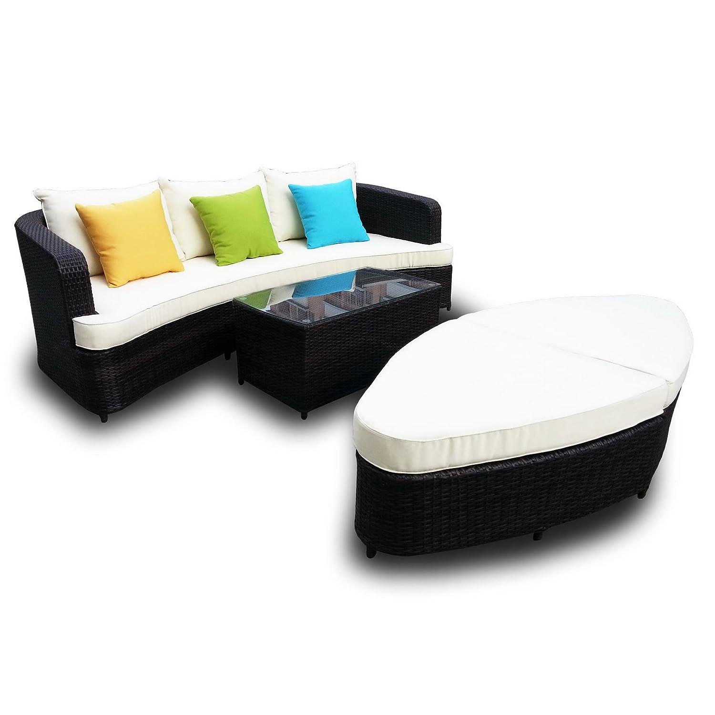Amazon Naples Deep Seating 4 piece Modular Sofa Set in Brown