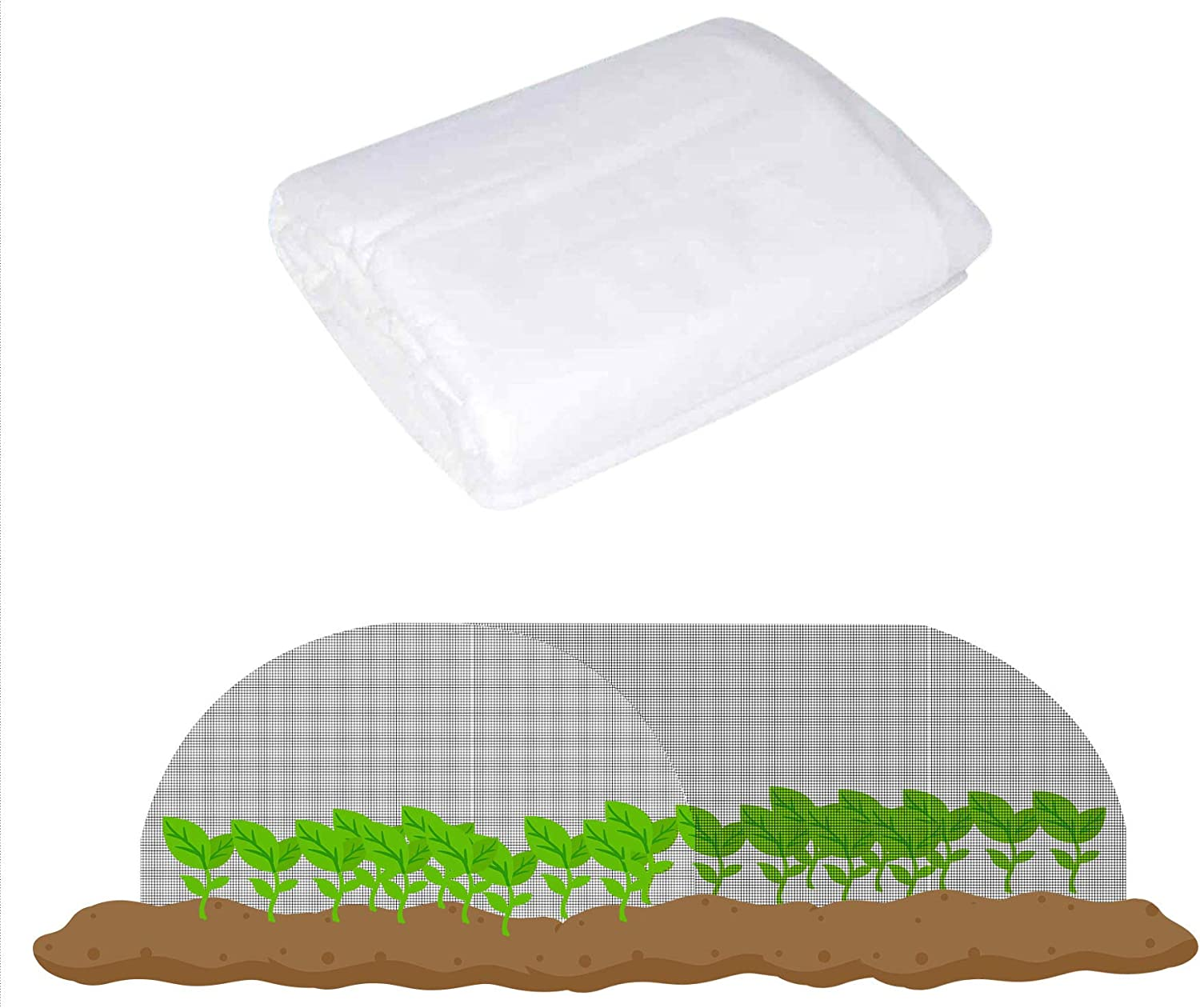 labworkauto Insect Barrier Netting Pest Barrier Net Garden Insect Screen Pest Guard Cover Plant Protect Mesh 0.8mm Fit for Protect Your Plants Fruits Flower 8ft x 50ft
