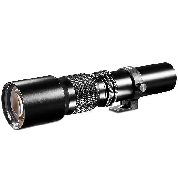 Walimex 500mm 1:8,0 CSC-Objektiv für Fuji X Bajonett schwarz (manueller Fokus, für Vollformat Sensor gerechnet, Filterdurchme