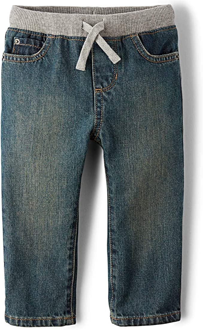 The Children's Place Boys Baby and Toddler Pull on Straight Jeans: Clothing