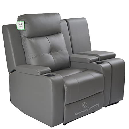 Terrific Mobility Buddy Odeon Grey Bonded Leather Electrically Evergreenethics Interior Chair Design Evergreenethicsorg