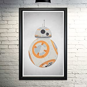 "BB8 word art print 11x17"" unframed limited edition 