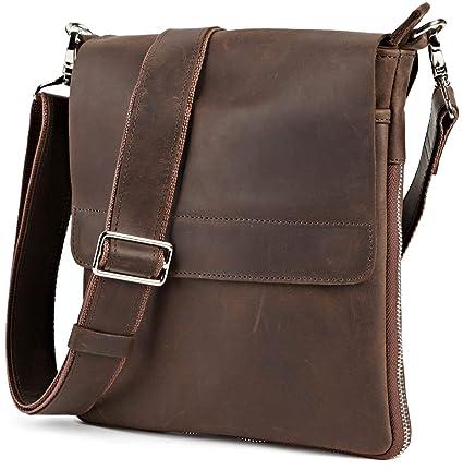 6126c68886b4 Image Unavailable. Image not available for. Color  Shvigel Leather  Messenger Bag - Men s ...