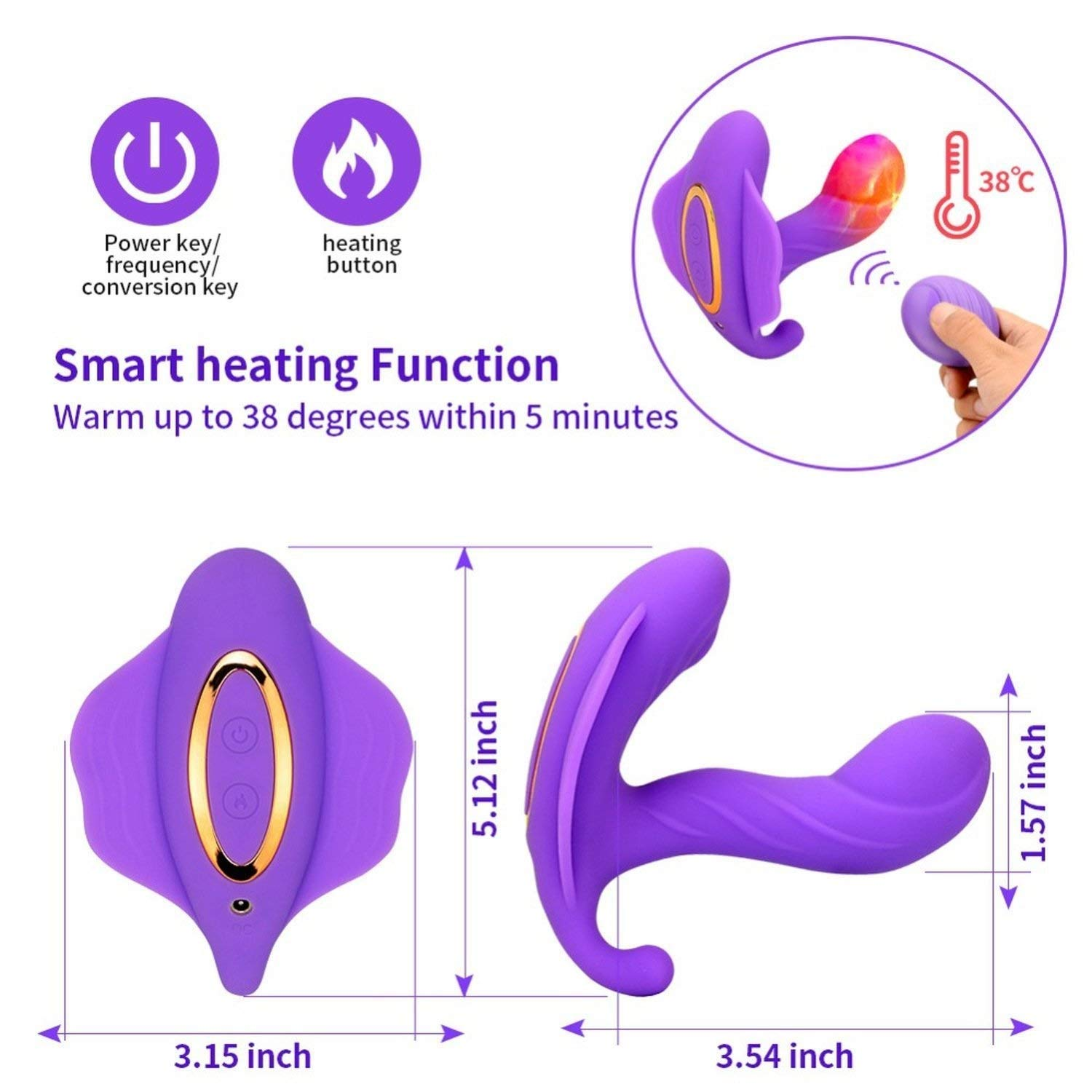 Caobilove S Personal Vibrator Women Invisible Wearable Adult Toy Wireless Remote Control Super Vibrator Panty Caobilove X