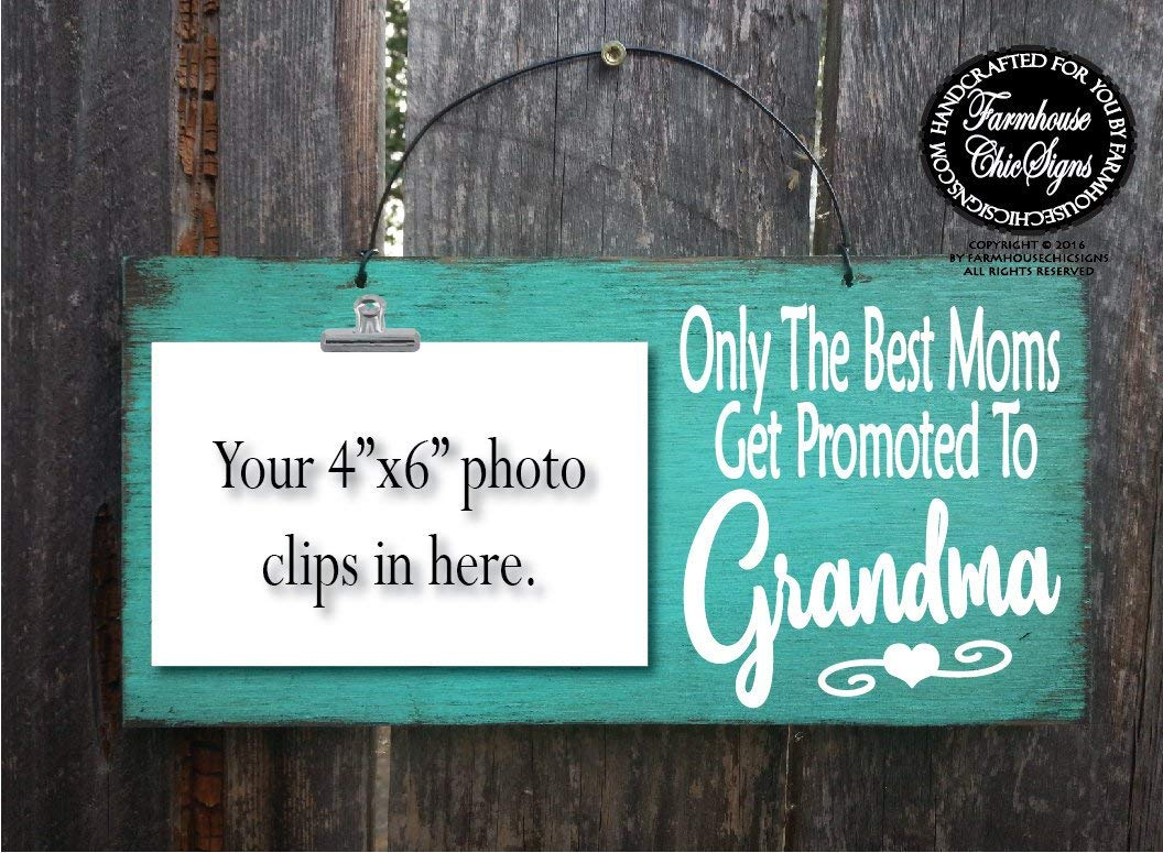 imouSde Only The Best Moms Get Promoted to Grandma Pregnancy Reveal Announcement Baby Reveal Grandparents to Be Gift,New Baby Grandma to Be