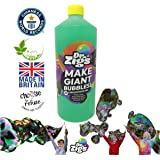 """Dr Zigs ORIGINAL Giant Bubble """"Triple Concentrate"""" Solution – 1 Litre Makes 3 Litres - Ideal Refill Solution Bubble Wands – Hours of Outdoor Fun for Kids – Great for Garden Games, Parties"""