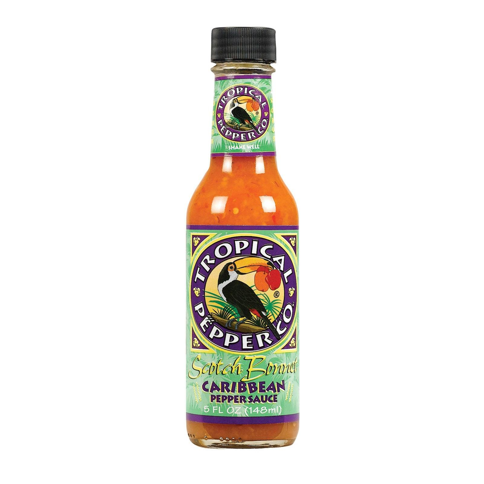 TROPICAL PEPPER, Sauce, Scotch Bonnet, Pack of 12, Size 5 FZ, (Dairy Free Kosher Vegan)
