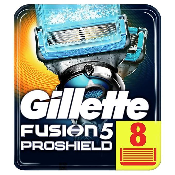 150 opinioni per Gillette Fusion5 ProShield Chill Lamette di Ricambio per Rasoio, 8 Lamette