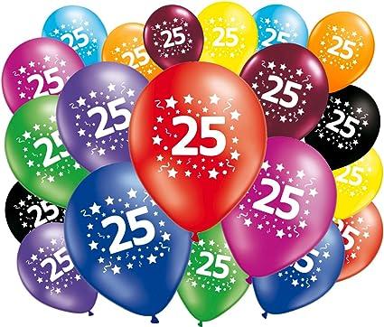 Fabsud Ballons Anniversaire 25 Ans Lot De 20 Ballons 25 Amazon Fr Cuisine Maison