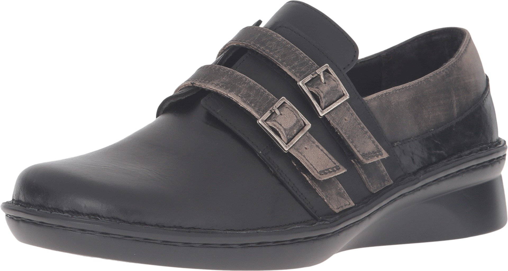 NAOT Women's Celesta Oxfords, Black Leather, Polyurethane, Cork, Latex, Suede, 38 M EU, 7-7.5 M