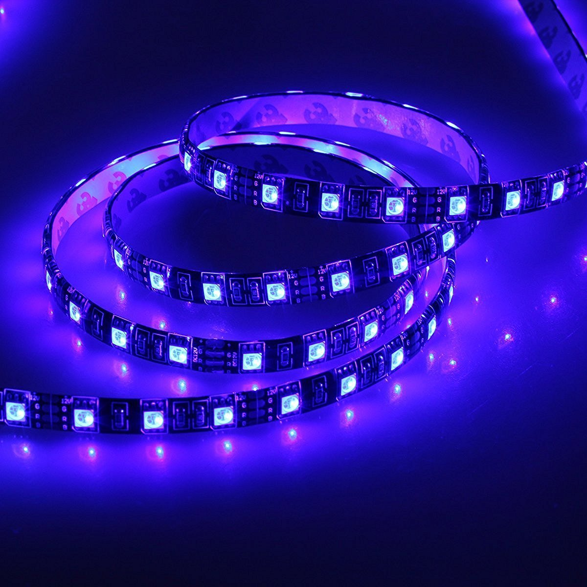 Kapata 16.4FT SMD 5050 Waterproof 300LEDs RGB Flexible LED Strip Light Lamp + 44Key IR Remote Controller+12V 6A Power Adapter