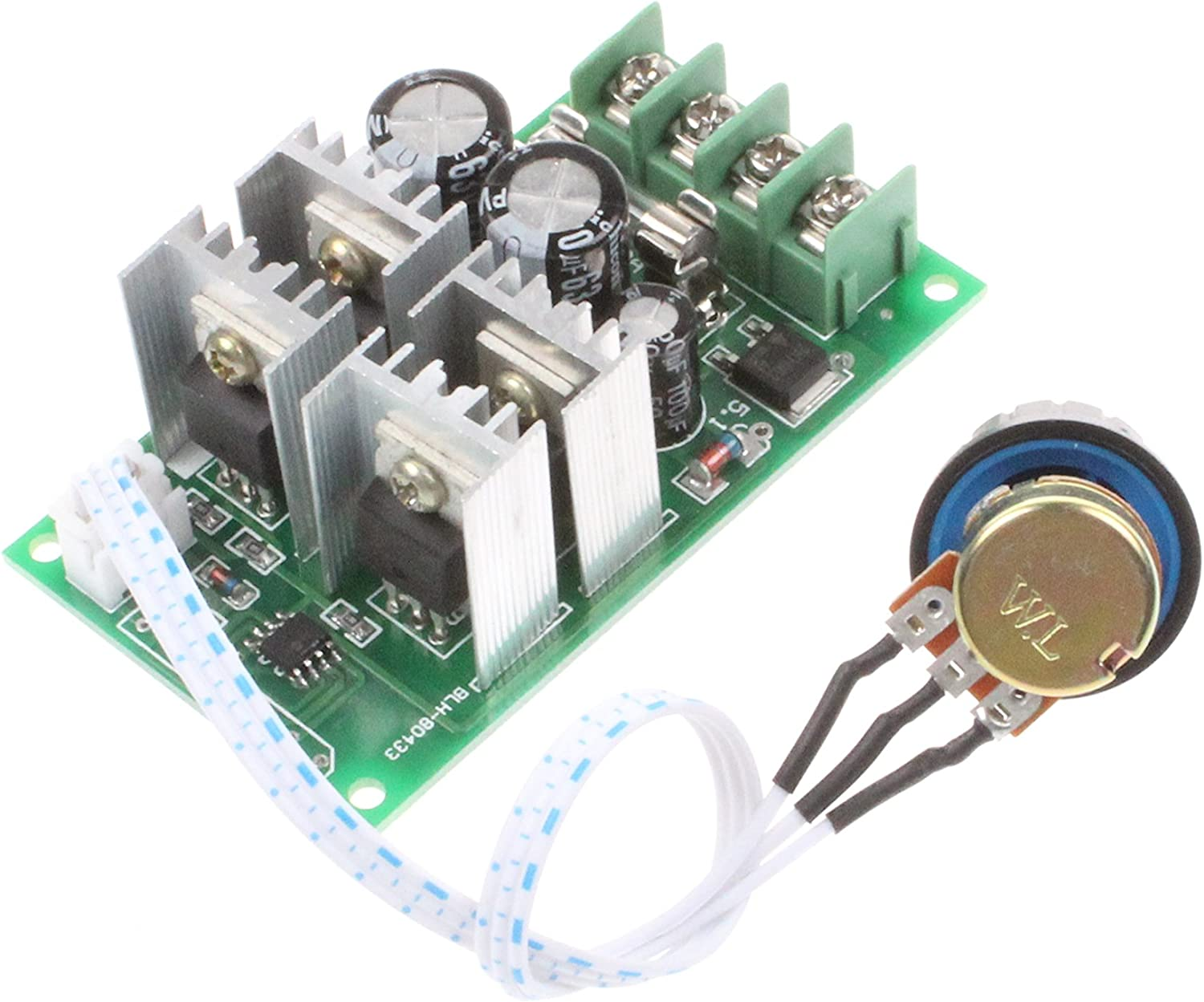 NOYITO PWM DC Motor Governor Controller 30A Max DC6-60V 12V 24V 36V 48V Brush DC Motor Controller Digital Display 0-100/% Speed Regulation 30A Digital Display