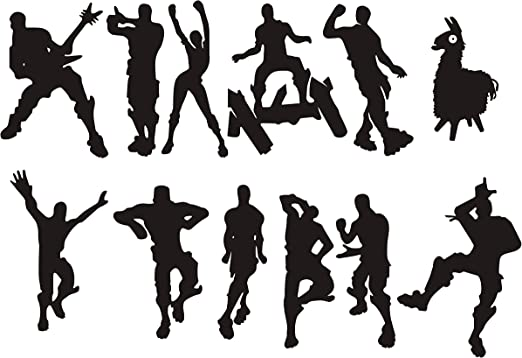 Amazon Com Lhkser Video Gamer Wall Decor Peel Stick Poster Decals Floss Dancing Game Nursery Kids Room Game Stickers Black Home Kitchen