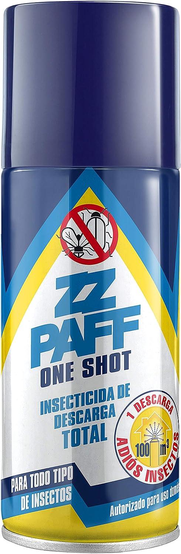 ZZ PAFF One Shot| Insecticida Aerosol |Insecticida Descarga Total | Para Todo Tipo de Insectos | Control de Plagas Domésticas| Elaborado a Base de Piretrinas Naturales | Contenido 150 ml