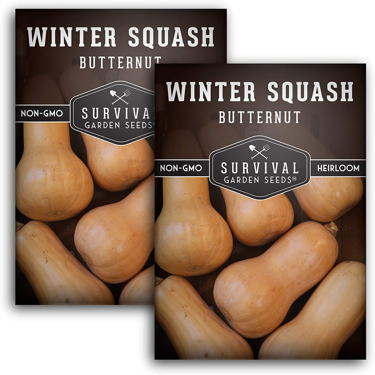 Survival Garden Seeds - Butternut Squash Seed for Planting - Packet with Instructions to Plant and Grow in Your Home Vegetable Garden - Non-GMO Heirloom Variety