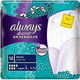 Always - Discreet Culottes Super L pour Fuites Urinaires et Incontinence - x12