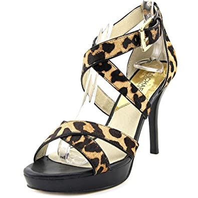 4d0e4e62381 Image Unavailable. Image not available for. Color  Michael Kors Evie  Platform Heels Sandals ...