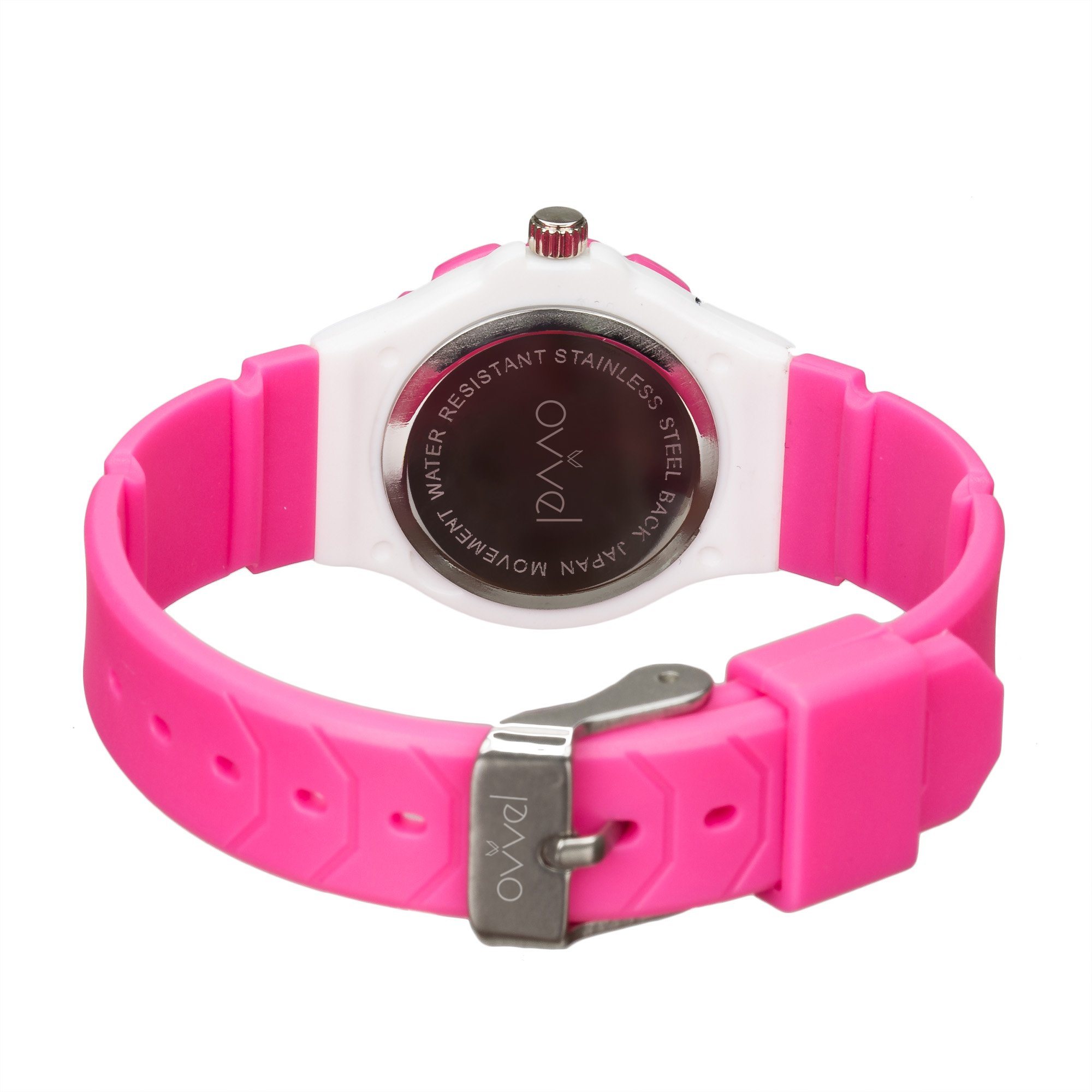 Ovvel Kids Watches, Wrist Watch for Little Girls, Beautiful & Adorable Time Teacher Watch, Innovative Easy–to–Read Design with Japanese Movement & Sony Battery, Gift for Little Girls - Pink by Ovvel (Image #2)