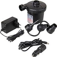 Baytter 12 V 230 V Elektrische Luftpumpe Gebläsepumpe fürs Auf- & Abpumpen mit 3 Adaptern Camping Outdoor