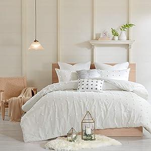 Urban Habitat Brooklyn Cotton Jacquard Comforter Set Ivory Full/Queen