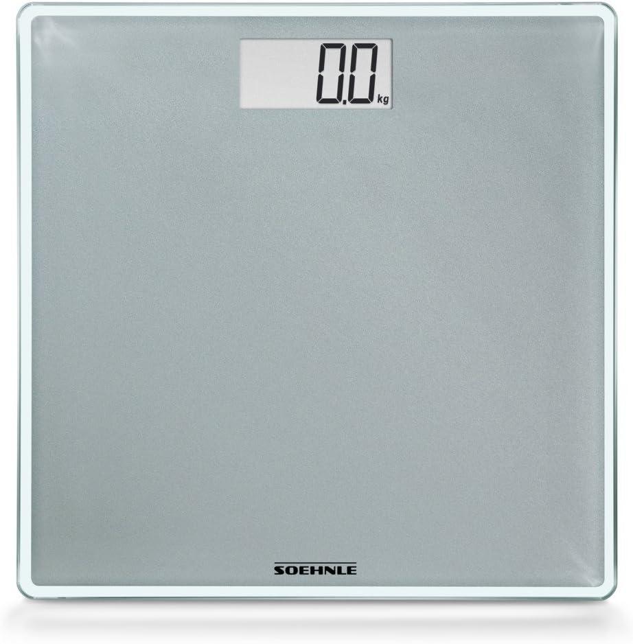 SOEHNLE 63852 Style Sense Compact 300 argento Bilancia pesapersone fino a 180 kg di portata