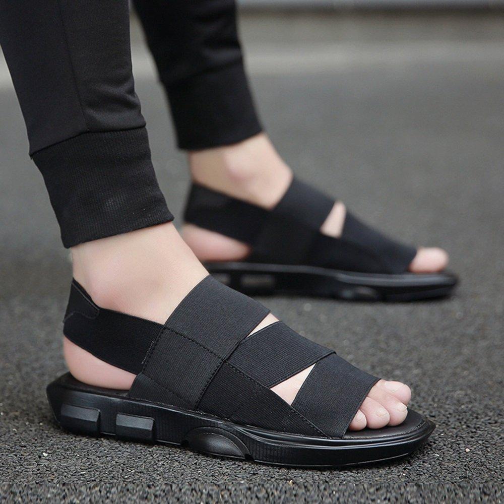 YQQ Lässige Sport Sandalen Jugend Hausschuhe Lässige YQQ Schuhe Ferienschuhe Mode Schuhe Männer Schuhe Junge Sommer- Rutschfest Gummiband (Farbe : Lila, Größe : EU41/UK7.5-8) Schwarz ca23d4