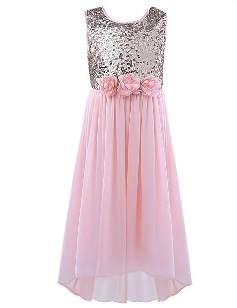 a57266bcb iEFiEL - Vestido - para niña rosa Pearl Pink 3 años: Amazon.es: Ropa y  accesorios