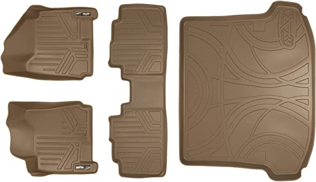 MAXLINER Floor Mats 1st Row Liner Set Tan for 2010-2016 Cadillac SRX