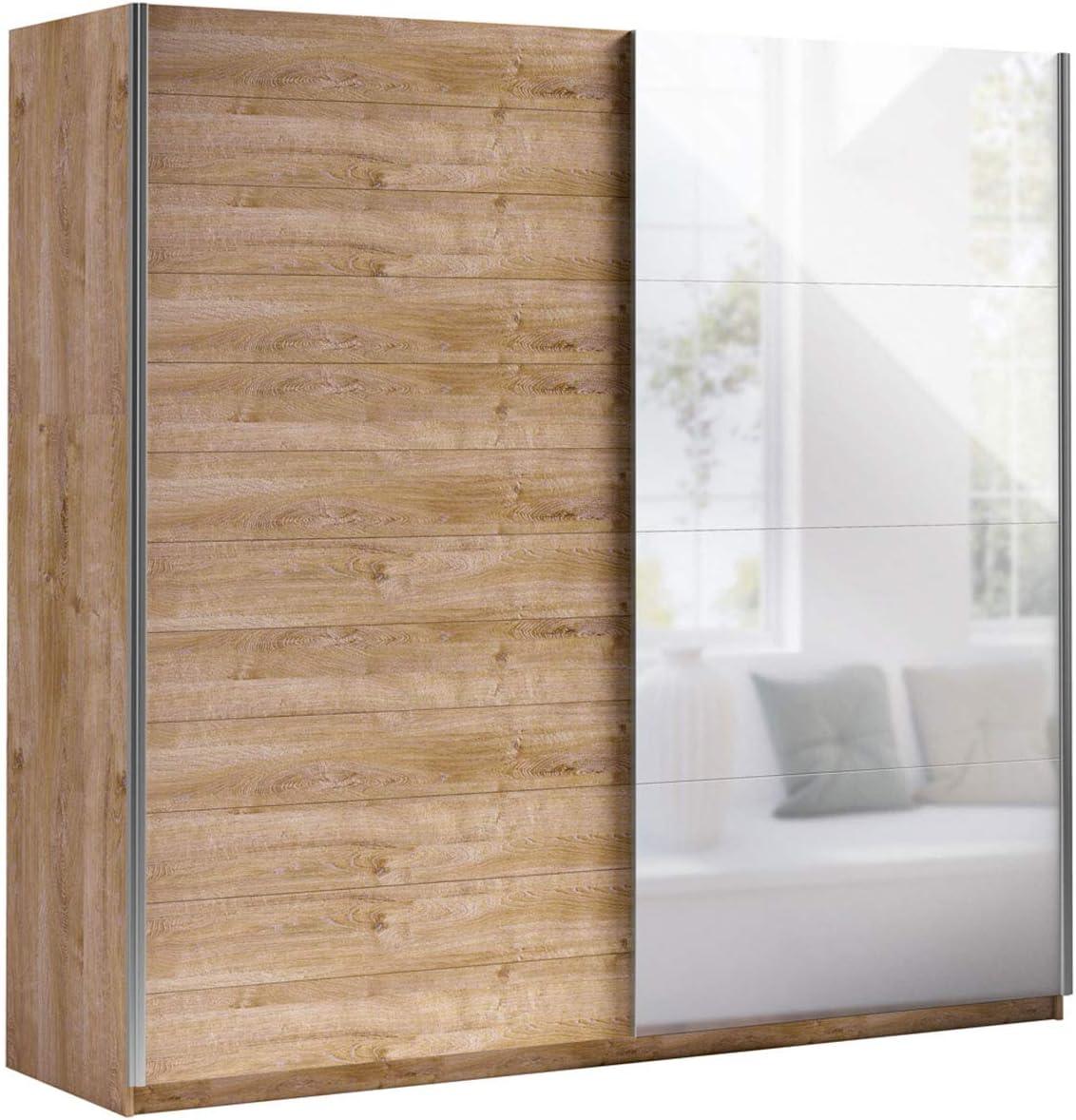 Mirjan24 Bora VII - Armario de Puertas correderas Elegante con Espejo, Armario para Dormitorio, Dormitorio Juvenil: Amazon.es: Juguetes y juegos