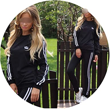 e388b71f9 Satin Two Piece Set Tracksuit for Women Elegant top and Pants Set 2018  Womens Casual Sweat