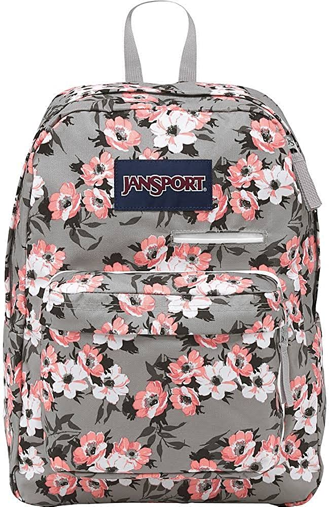 JANSPORT DIGIBREAK CORAL SPARKLE PRETTY POSEY JS00T50F0JB