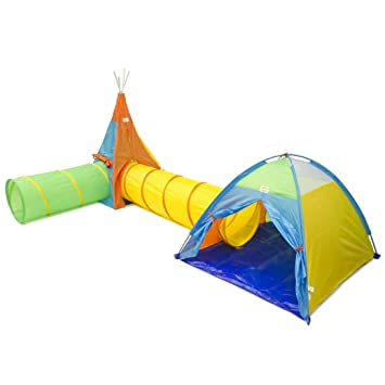 Goodsmann Kids Play Tent Tunnel Pop Up 4 in 1 Outdoor/Indoor Child Pop  sc 1 st  Amazon.com : pop up tents and tunnels - memphite.com