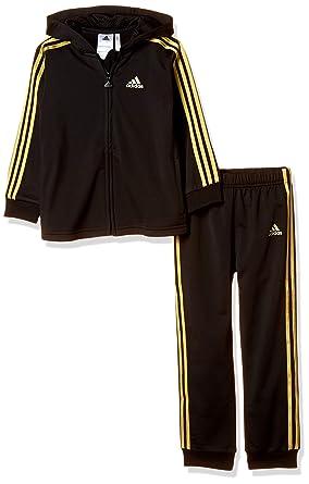 schwarz gold adidas anzug