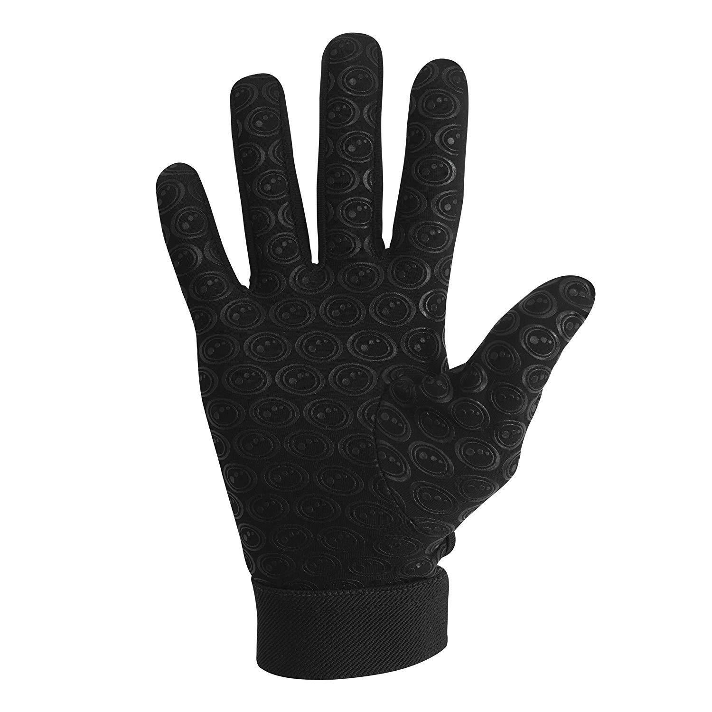 OPTIMUM Gloves Gants de Rugby Senior Velocity Noir//Jaune Petit Unisex-Youth