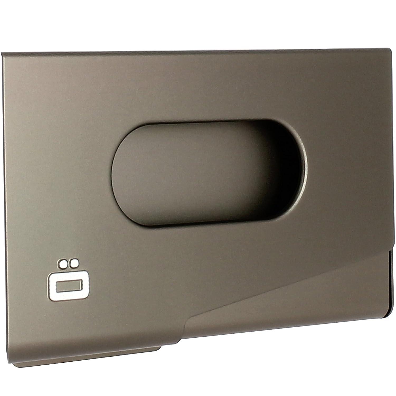 Porte-Cartes de Visite en Aluminium anodisé - One Touch - Distributeur de Cartes de Visite (Dark-Grey) Ögon Designs OT