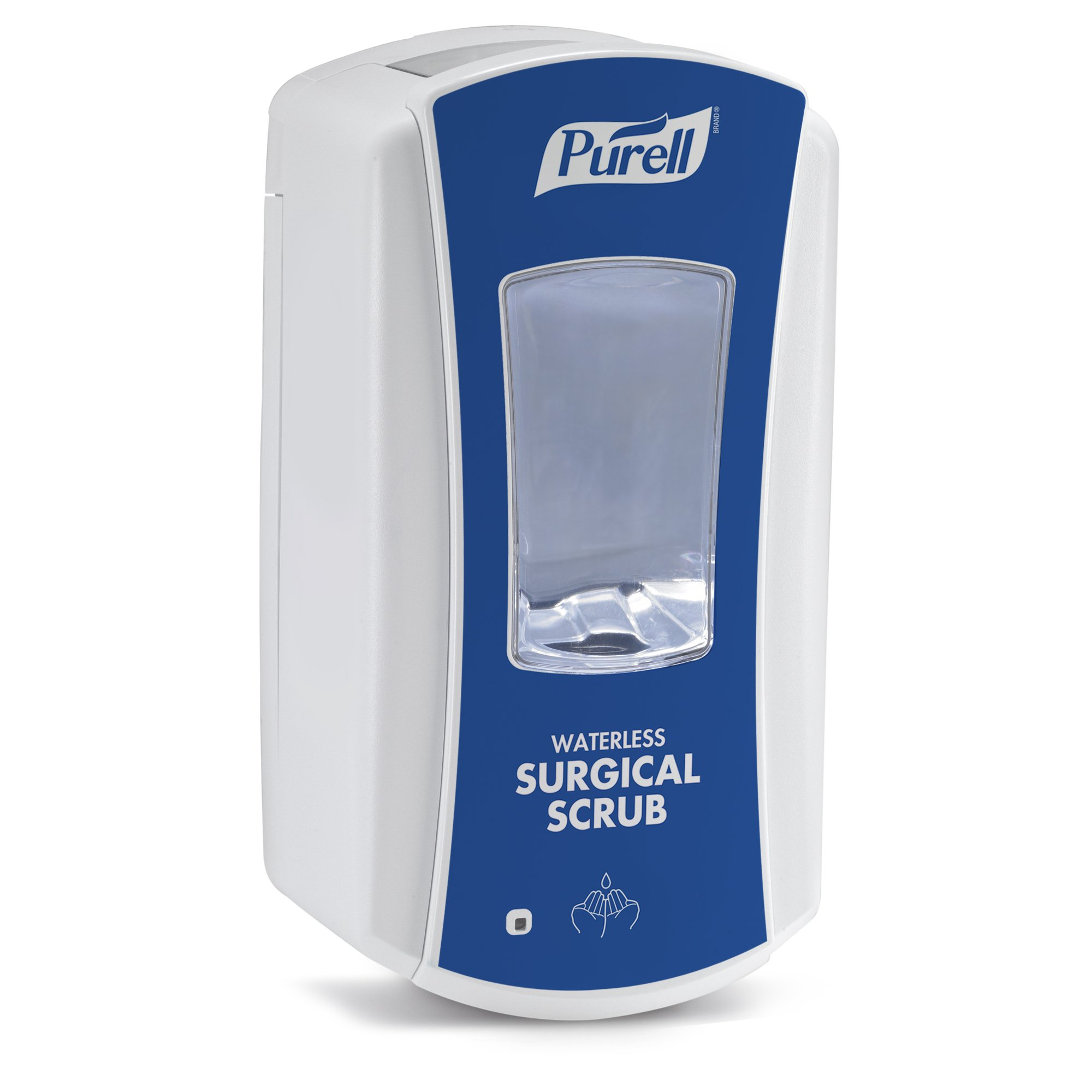 PURELL 1932-01 LTX-12 Touch-Free Waterless Surgical Scrub Dispenser – Blue and White, Dispenser for PURELL LTX-12 1200mL Refills