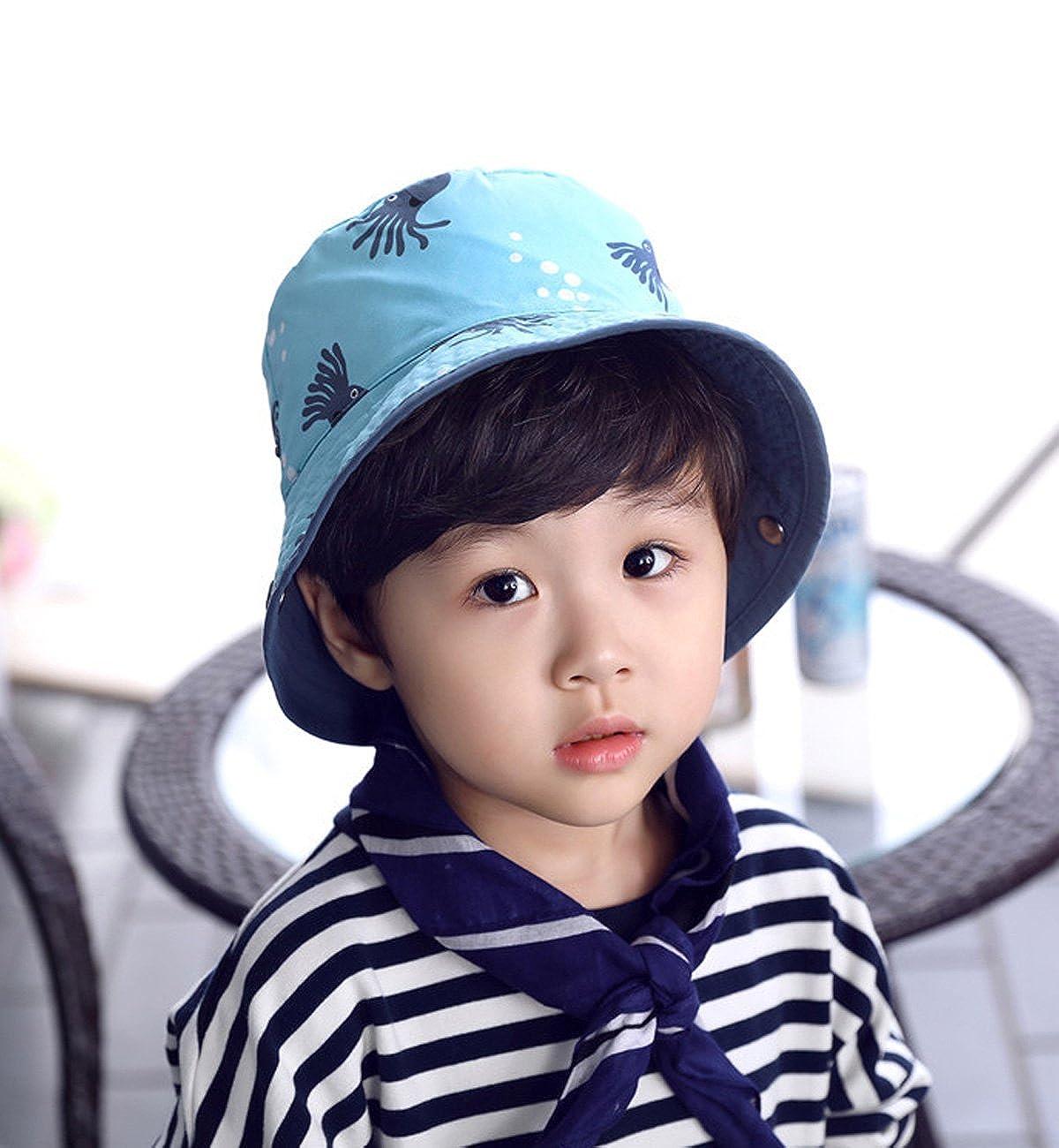 Lachi Chapeau de Soleil de Enfant Gar/çon B/éb/é Chapeau de Plage Coton Anti UV Bebe 0-5 Ans en Printemps Et/é