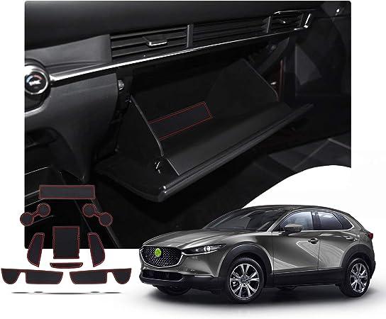 Ruiya Mazda Cx 30 Antirutschmatten Auto Innere Türschlitz Arm Box Aufbewahrung Matten Pads Rot Auto