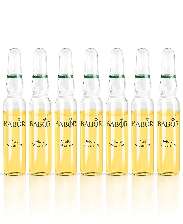 BABOR AMPOULE CONCENTRATES Multi Vitamin, Gesichtspflege für trockene Haut, mit Vitamin E, A & Biotin, unterstützt die Hautbarriere, weiche Haut, 7 x 2 ml 408517