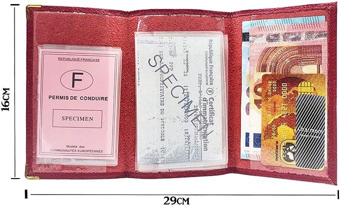 Design Automobile classeur Housse permis de conduire pièce d/'identité carte grise carte de crédit 913