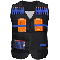 Yosoo Kids Elite Tactical Vest with 20 Pcs Soft Foam Darts for Nerf Gun N-Strike Elite Series ( 2 Clips Not Included )