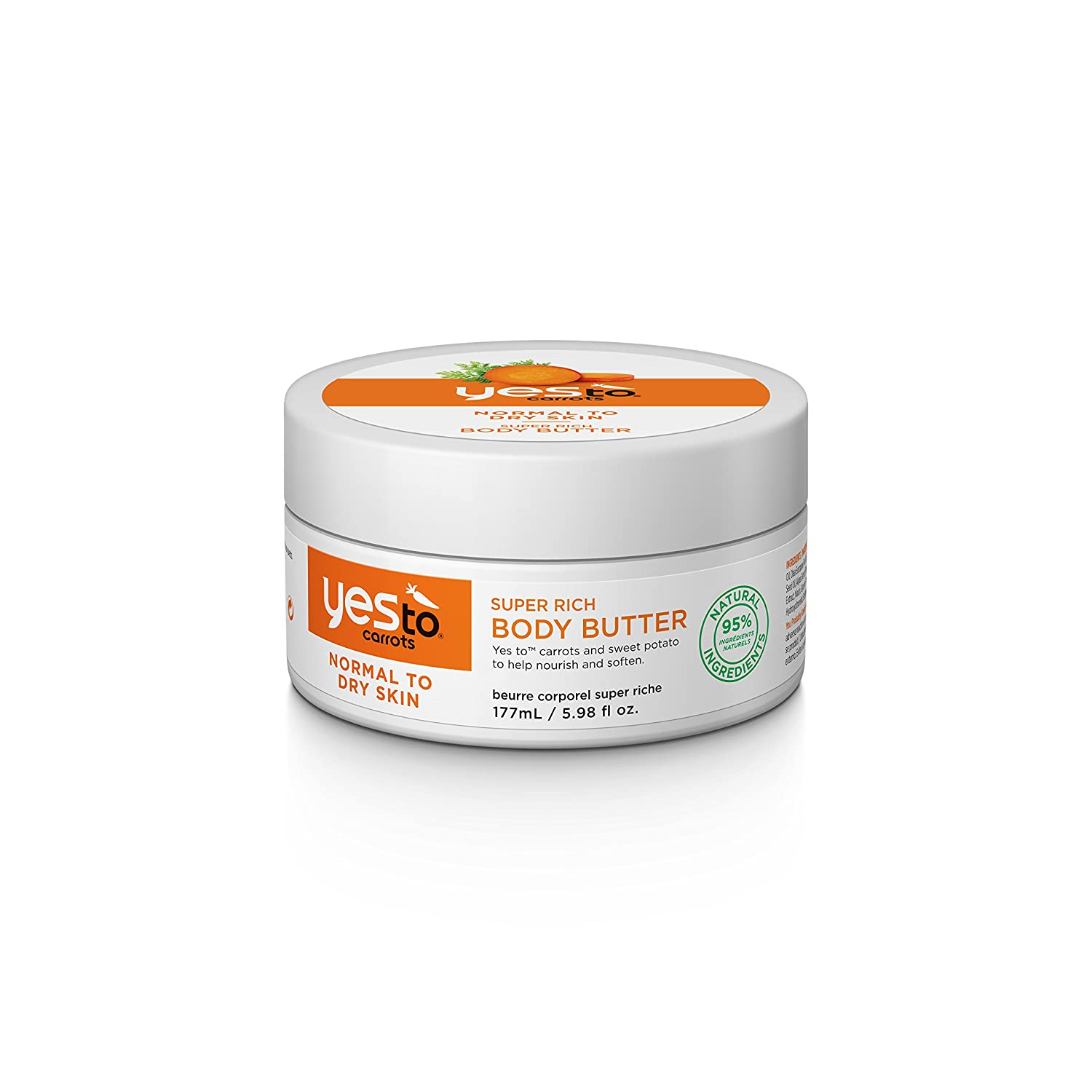Yes To Carrots Super Rich Body Butter, 1er Pack (1 x 177 g) 1415102