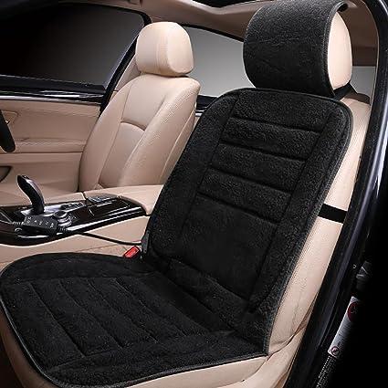 CAR Z&D Cubiertas de asiento heated del coche eléctrico 12v, amortiguador universal del asiento de